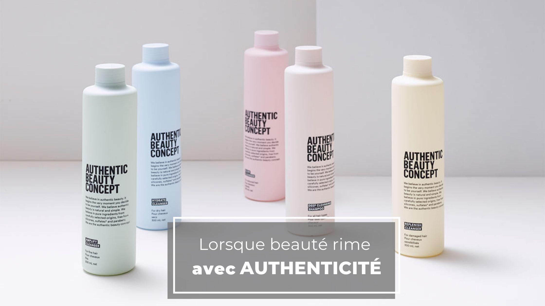 Les produits capillaires Authentic Beauty Concept