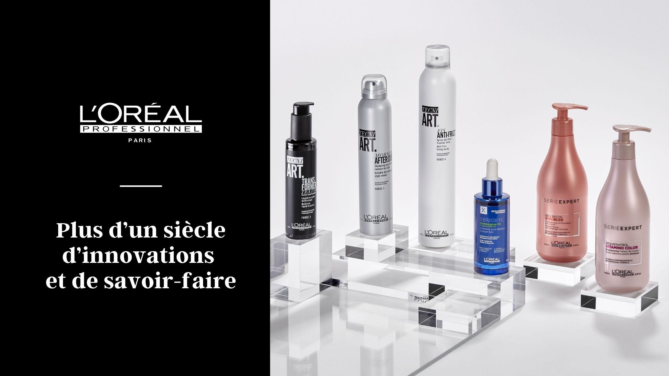 La gamme de produits capillaires L'Oréal Professionnel