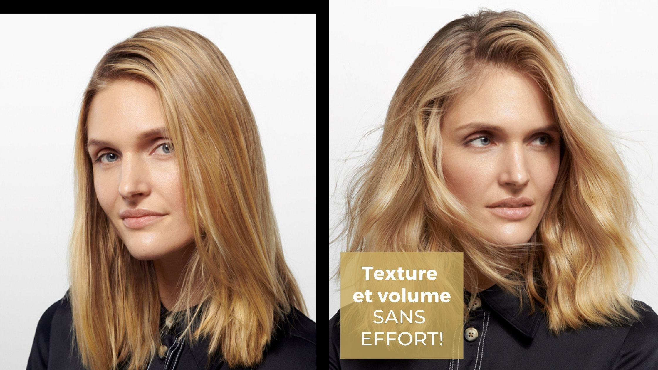 Des produits qui donnent de la texture aux cheveux